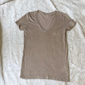 J crew metallic t shirt
